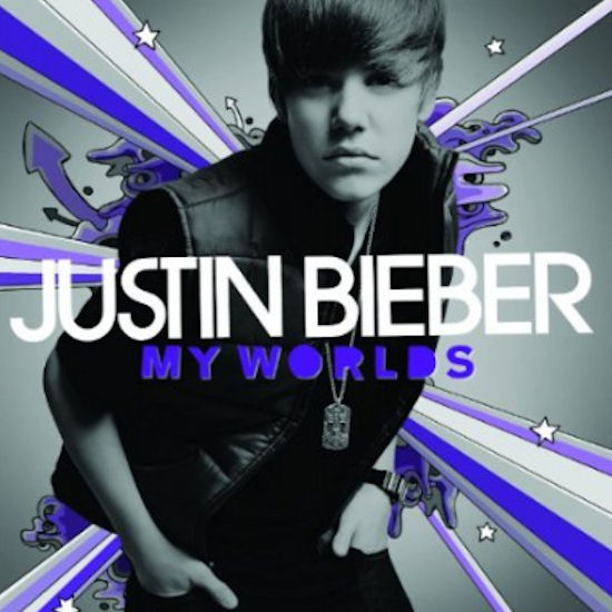 my justin bieber room. justin bieber cd my world.